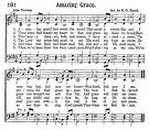 Partitura de Amazing Grace