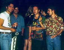 Joe Strummer, J.A. García, J.I. Lapido y Jesus Arias