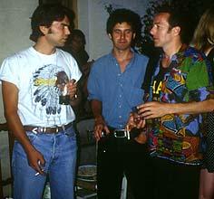 Joe Strummer con J.A. García y J.I. Lapido de 091